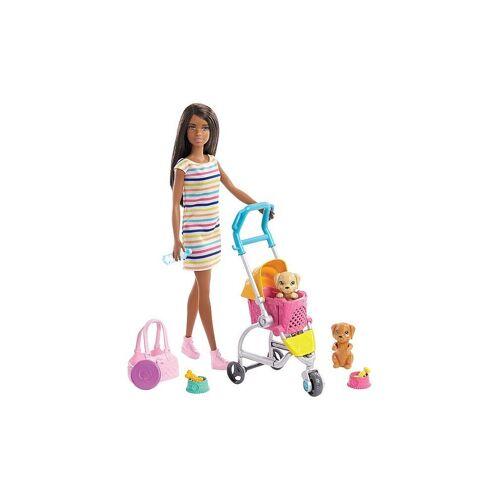 Mattel Barbie Hundebuggy Spielset mit Puppe (brünett)