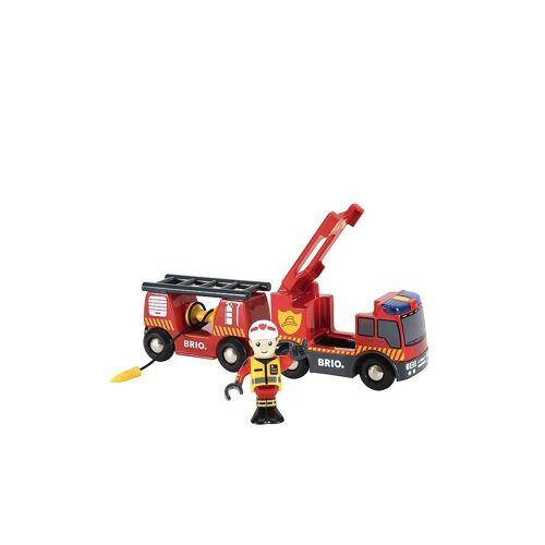 Brio Feuerwehr Leiterfahrzeug mit Licht und Sound