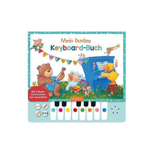 ARS EDITION VERLAG Mein buntes Keyboard-Buch mit Klaviertastatur
