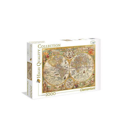 CLEMENTONI Puzzle - Antike Landkarte 2000 Teile