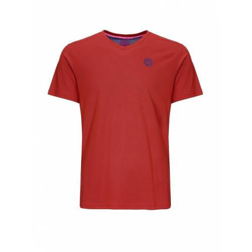 BIDI BADU Herren Tennisshirt Ted Tech rot   S