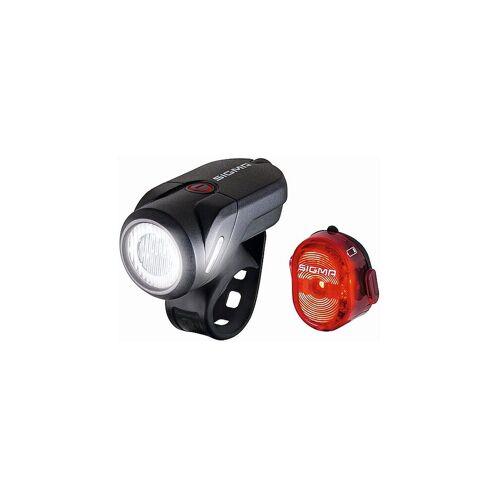 Sigma Fahrradlicht-Set Aura 35 USB / Nugget II schwarz