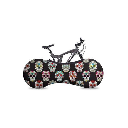 VELOSOCK Indoor-Fahrradabdeckung Bike Cover Skulls bunt