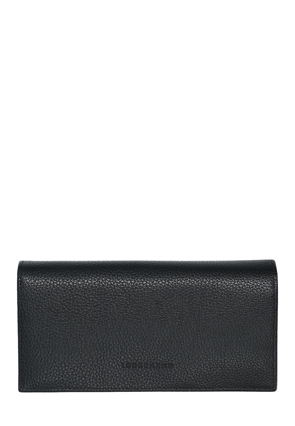 ca303d5962f648 Longchamp Portemonnaie La Foulonne, Leder, B19,5xH10xT3,5cm schwarz
