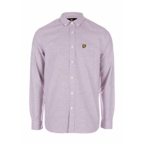 Scott Lyle AND Scott Hemd, Langarm, Button-down-Kragen weiß