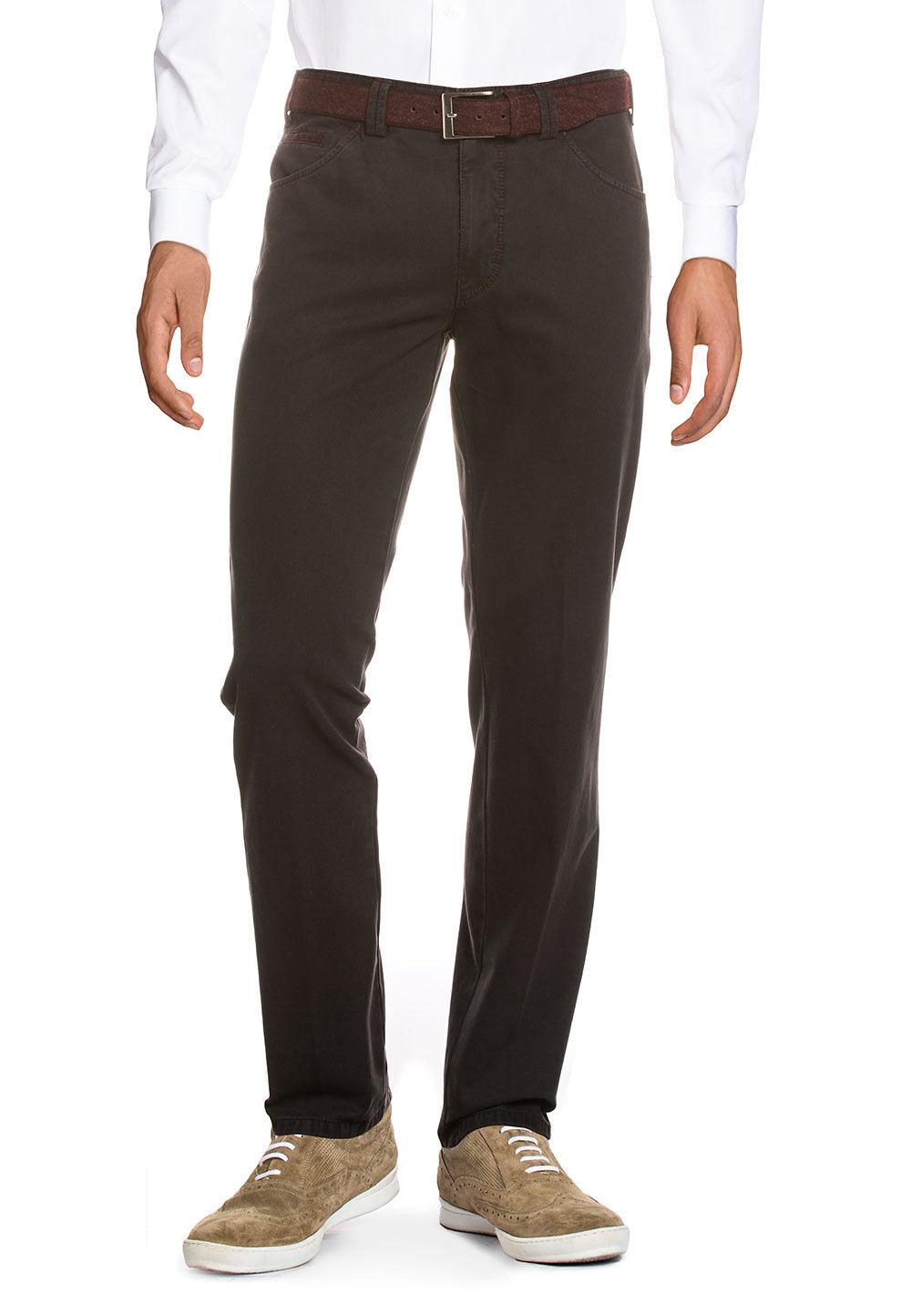 Meyer Hosen Stretch-Jeans Dublin, Modern Fit grau