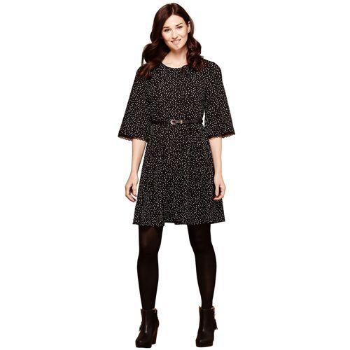 Yumi Kleid Polka Dots, Kurz schwarz