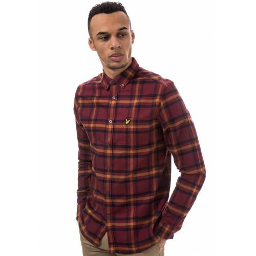 Scott Lyle AND Scott Hemd, Langarm, Button-down-Kragen rot