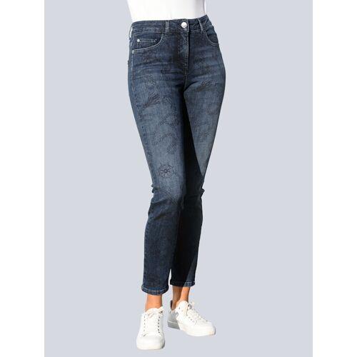 Alba Moda Jeans mit exklusivem Druck-Dessin, blau