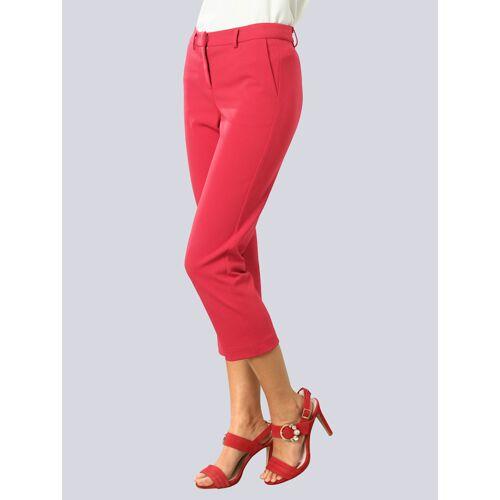 Alba Moda Hose aus pflegeleichter Kofferware, rot
