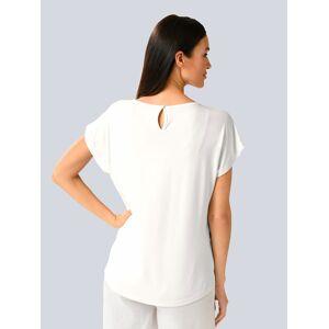 Alba Moda Shirt mit Webeinsatz im Vorderteil, weiß
