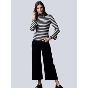 Alba Moda Pullover allover im klassischem Streifenmuster, schwarz