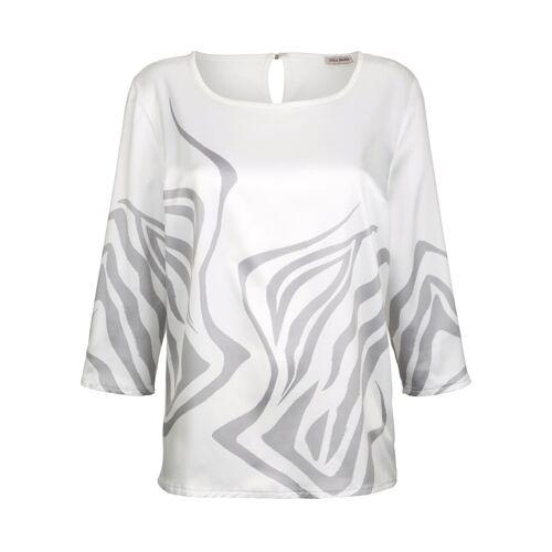 Alba Moda Bluse aus satinierter Ware, weiß
