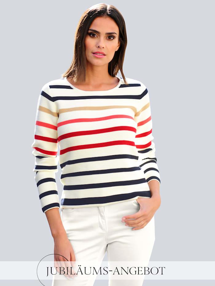 Alba Moda Pullover aus schöner Pima Baumwolle, weiß