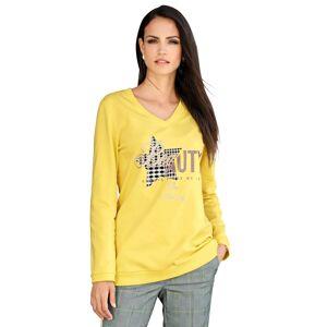 AMY VERMONT Sweatshirt mit Motiv im Vorderteil, gelb