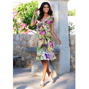 Alba Moda Strandkleid mit Volants, multicolor