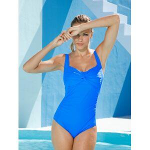 Maritim Badeanzug mit modischen Raffungen im Brustbereich, blau