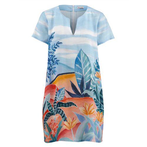 Alba Moda Strandkleid mit sommerlichem Druck, blau
