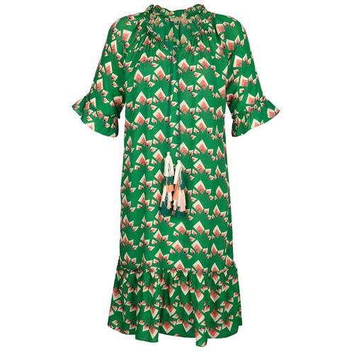 Alba Moda Strandkleid mit Quastenverzierung, grün