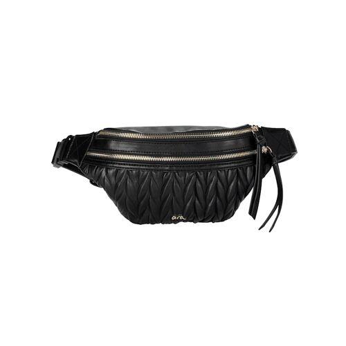 Ara Gürteltasche mit schöner Zopfoptik, schwarz
