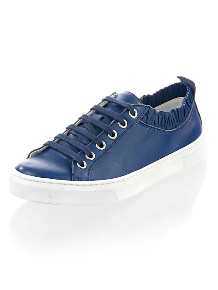 Alba Moda Sneaker mit femininen Rüschen, blau