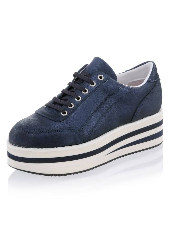 Alba Moda Sneaker mit hoher Plateausohle, blau