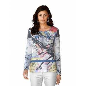AMY VERMONT Pullover mit Druck, multicolor