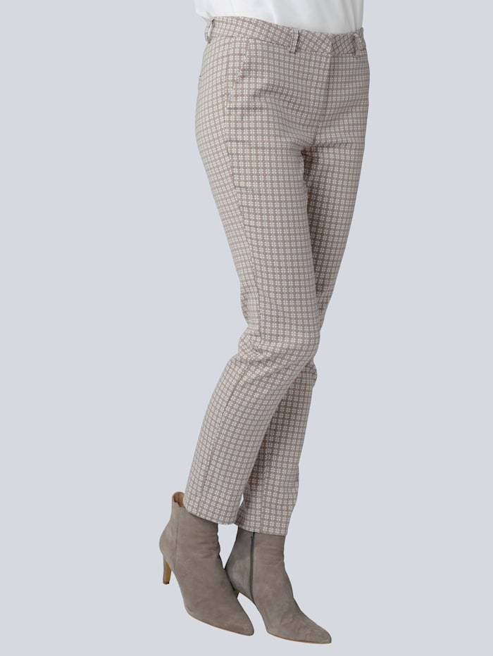Alba Moda Hose im Minimal-Dessin allover, grau