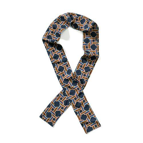Alba Moda Tuch als Twilly-Form, blau