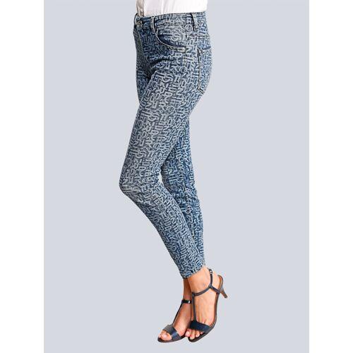 Rosner Jeans im modischen Druck, blau