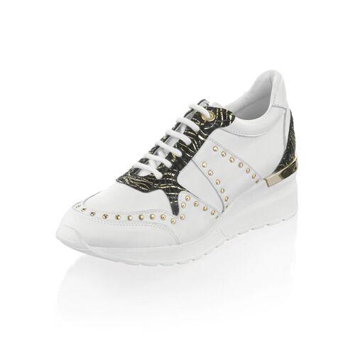 Alba Moda Sneaker mit Keilabsatz, weiß