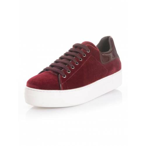Alba Moda Sneaker aus wichem Samttextil, rot