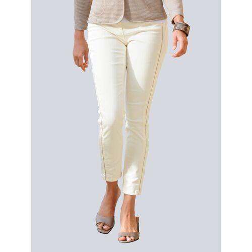 Alba Moda Jeans mit Galon-Streifen, weiß