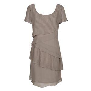 Alba Moda Kleid in modischem Lagenlook, braun