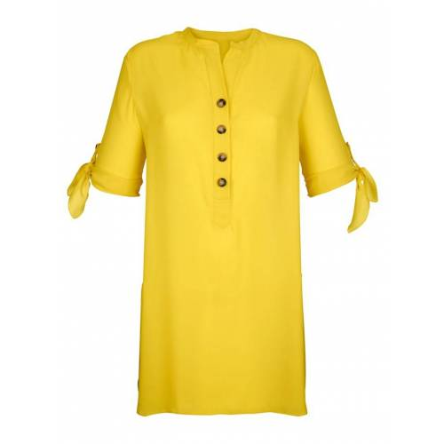 Alba Moda Bluse in langer Form, gelb
