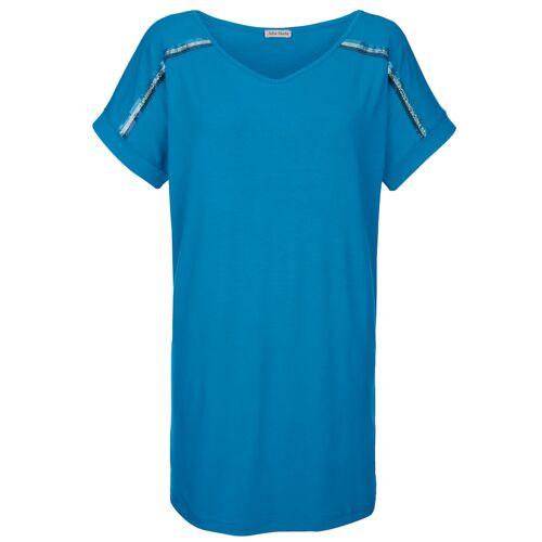 Alba Moda Strandshirt mit Pailletten, türkis