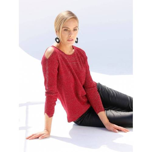 AMY VERMONT Pullover mit Cut-Outs, rot