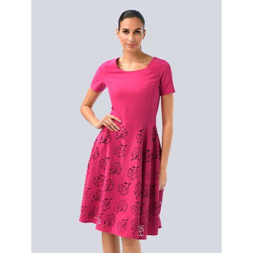 Alba Moda Kleid mit modischen Cut-Outs, rosé