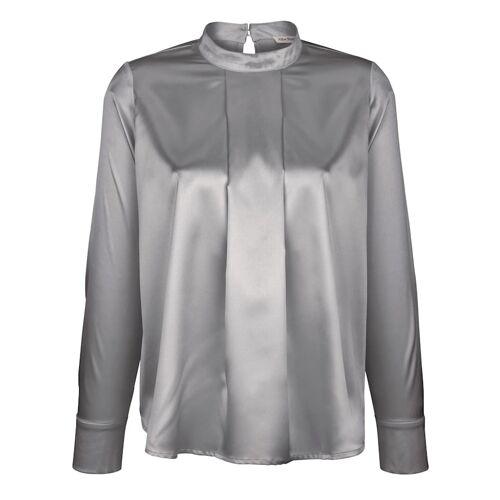 Alba Moda Bluse in leicht glänzender Ware, grau