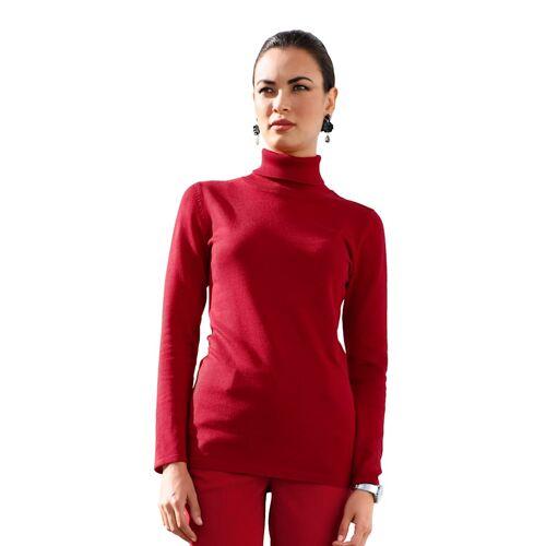AMY VERMONT Rollkragenpullover in taillierter Form, rot