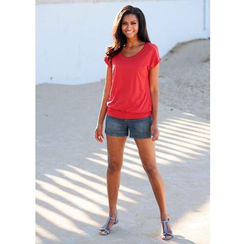 Alba Moda Shirt mit Nietenverzierung, orange