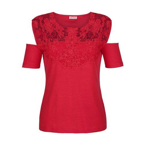 Alba Moda Strandshirt im Offshoulder-Stil, rot