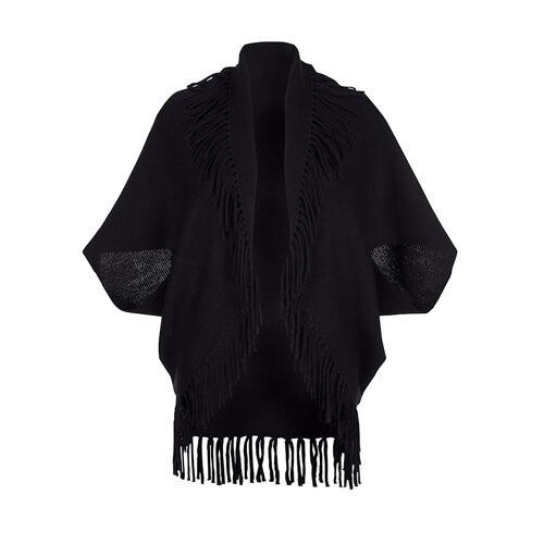 Alba Moda Strickjacke modisch in Cape Form, schwarz
