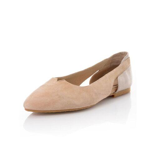 Alba Moda Ballerina in spitzer Form, beige