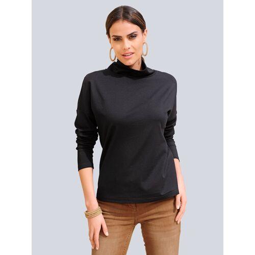 Alba Moda Shirt mit Umlegekragen, schwarz