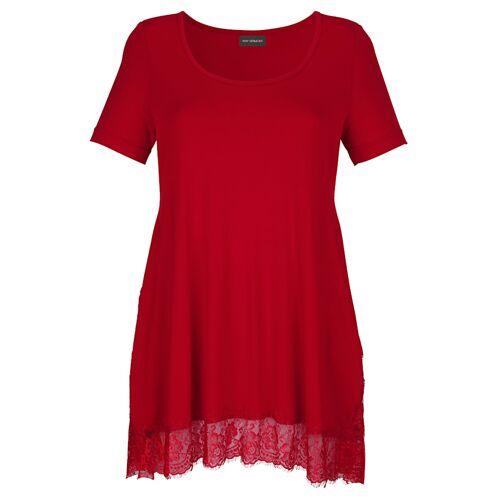 AMY VERMONT Longshirt mit Spitzenbordüre, rot