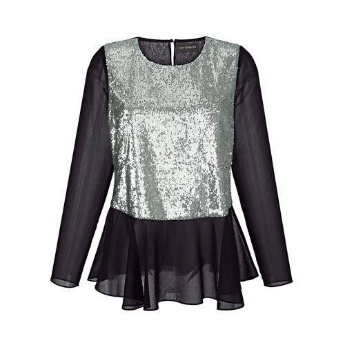AMY VERMONT Bluse mit Pailletten, schwarz
