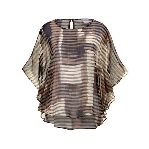 Alba Moda Bluse aus transparenter Ware, braun