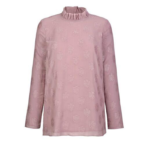 AMY VERMONT Bluse mit deznten Glanz, lila