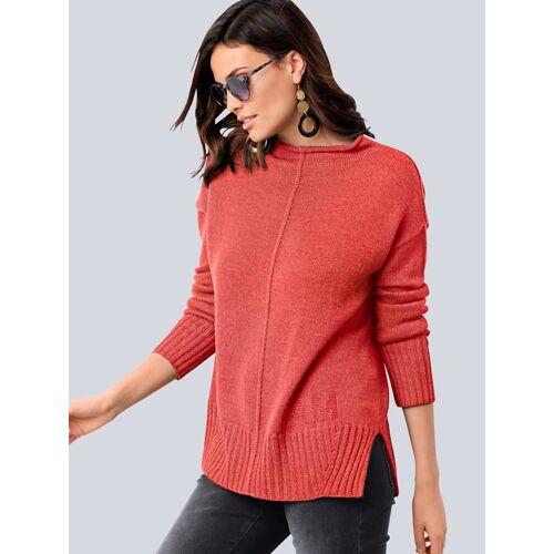 Alba Moda Pullover in reduzierter Oversized-Form, orange